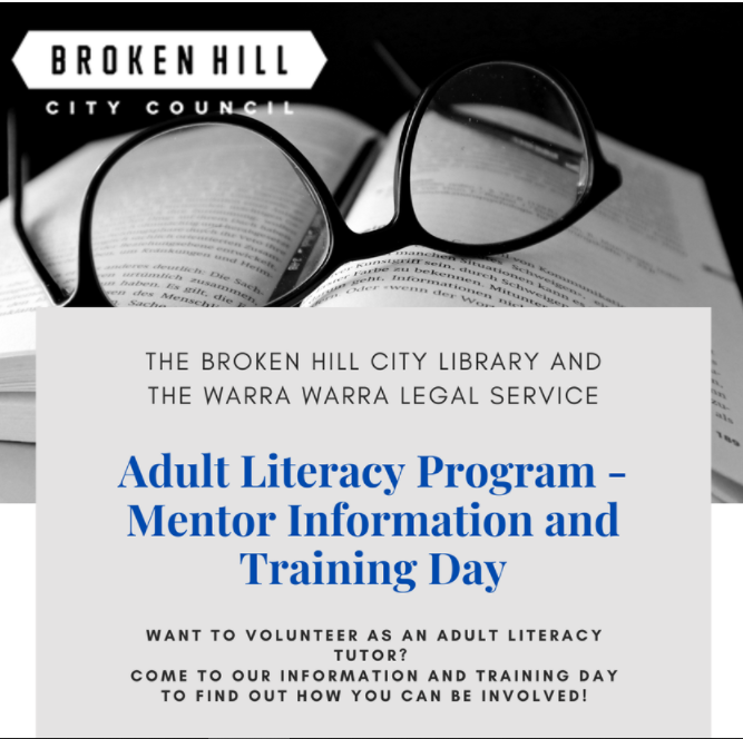 Adult Literacy Program - Mentor Information and Training Day flyer