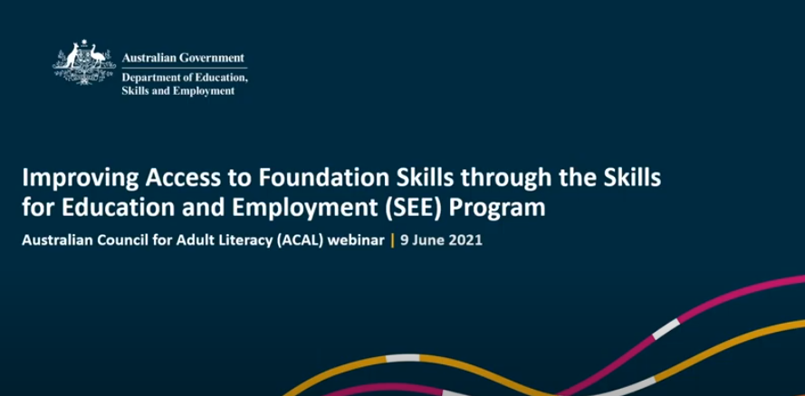 Information in regards to a webinar about the expansion of the SEE program