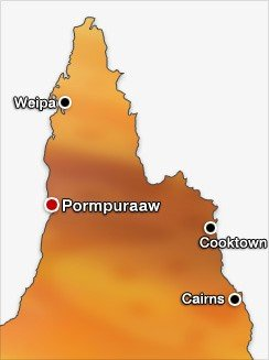 Map of Cape York