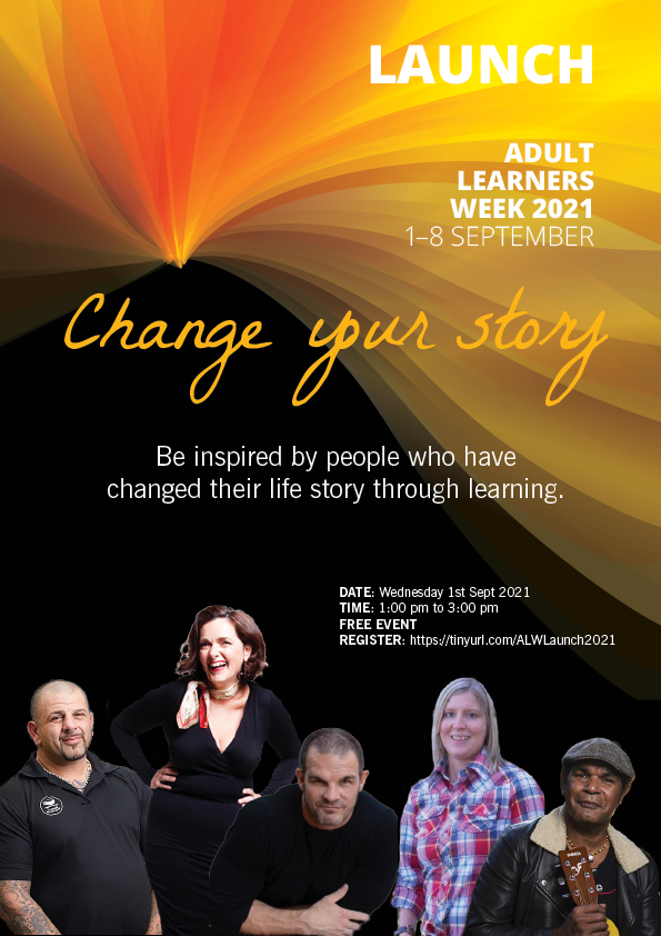 Promotional image for Adult Learners Week 2021